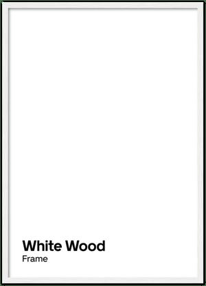Image of White wood frame