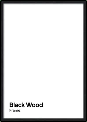Image of Black wood frame