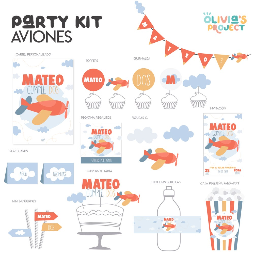 Image of Party Kit Aviones