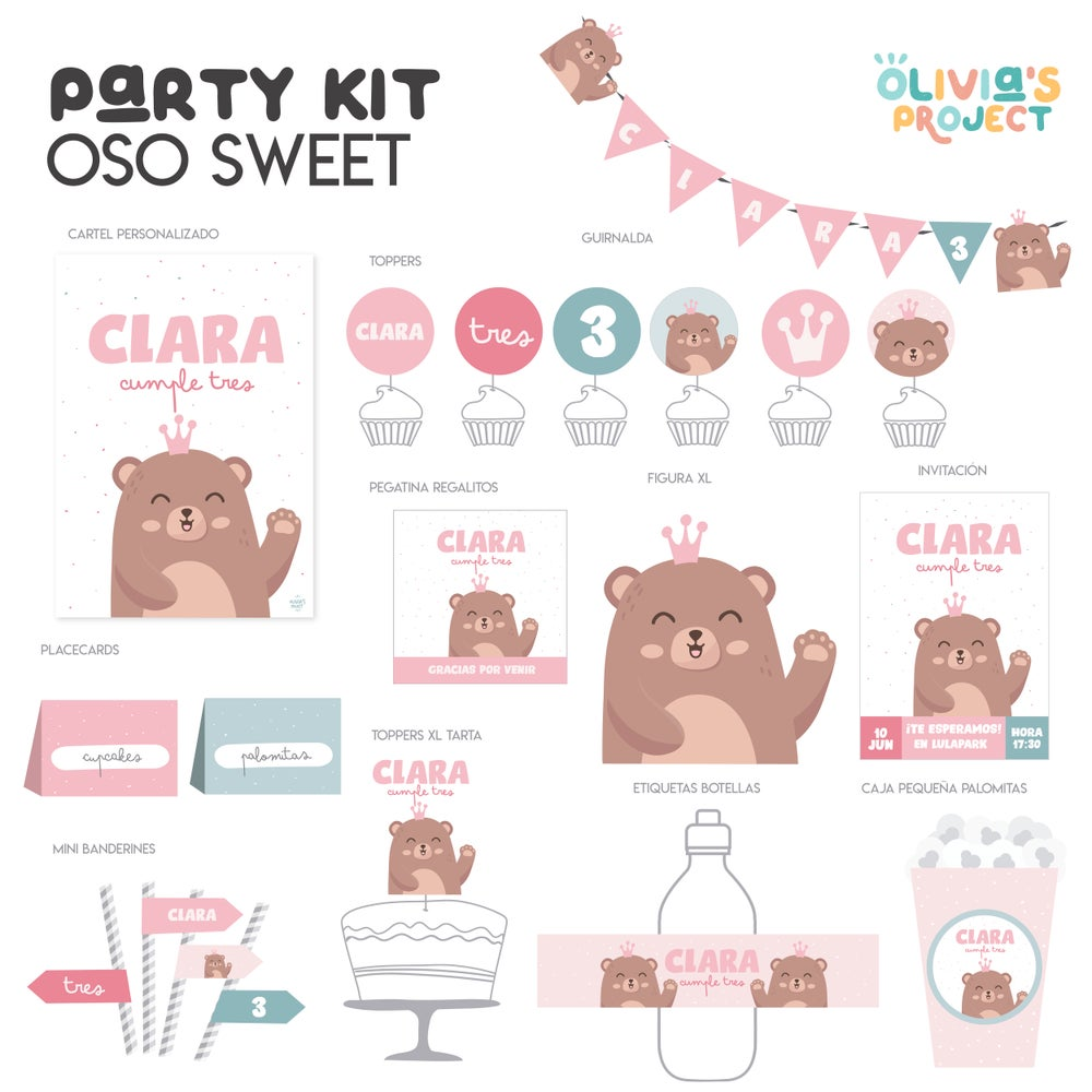 Image of Party Kit - Oso Sweet