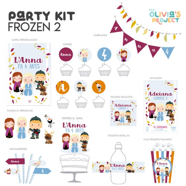 Image of Party Kit Frozen 2 Impreso