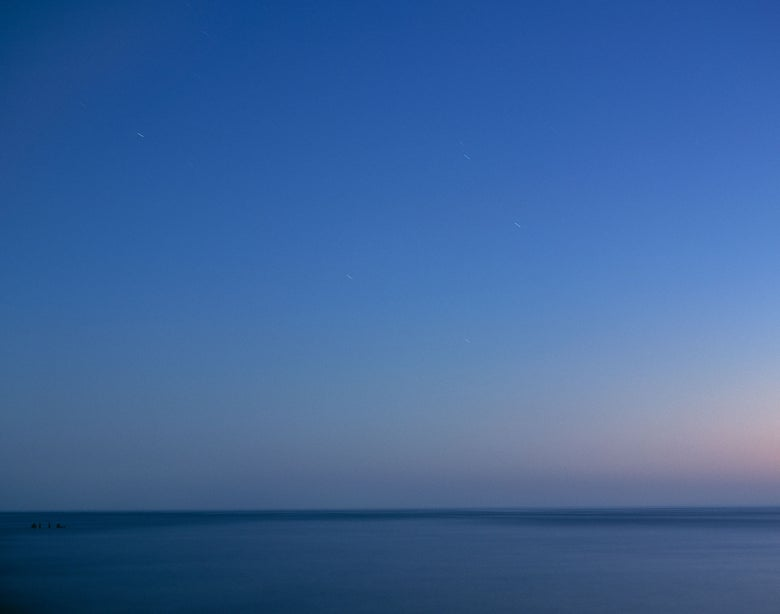 Image of Nightfall, Lake Michigan, Silver Beach Park, Michigan