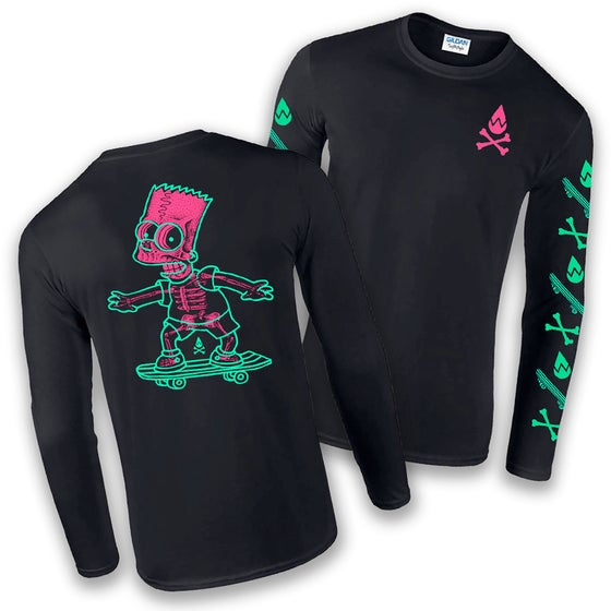 Image of PINK/TURQUOISE LONGSLEEVE