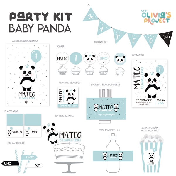 Image of Party Kit Baby Panda