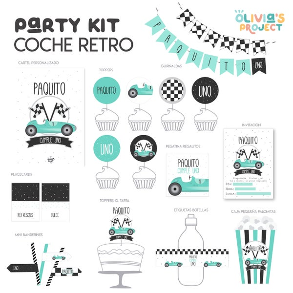 Image of Party Kit Coche Retro