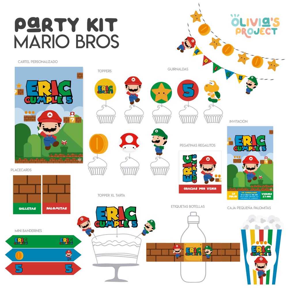 Image of Party Kit Super Mario Bros Impreso