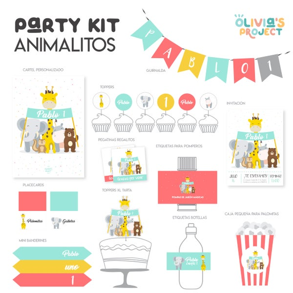 Image of Party Kit Animalitos Impreso