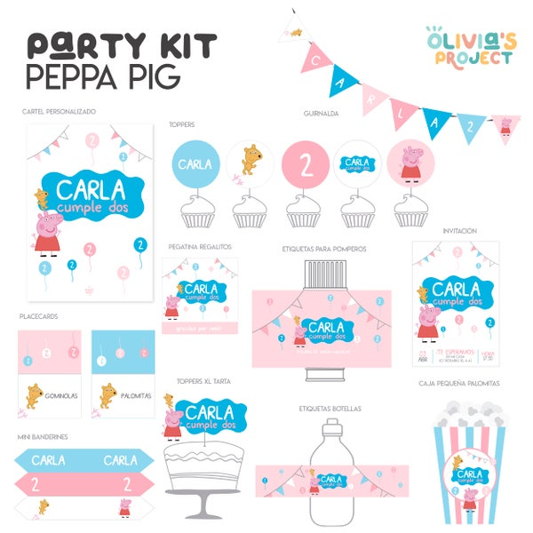 Image of Party Kit Peppa Pig impreso
