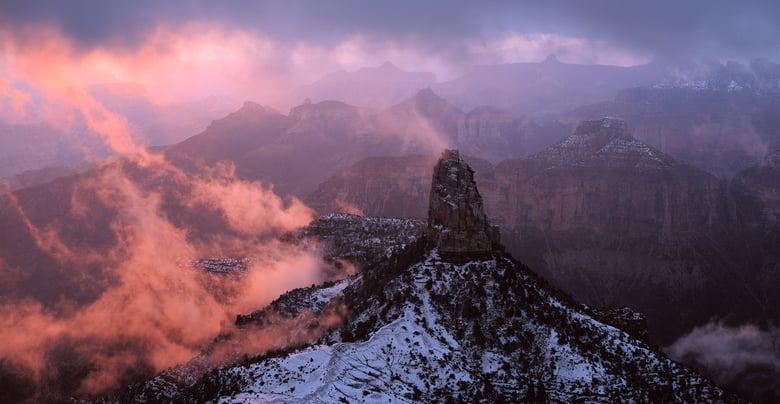 Image of Canyon Snowstorm at Dawn, Grand Canyon National Park, Arizona