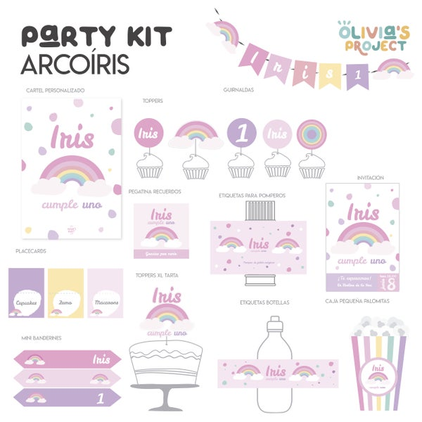 Image of Party Kit Arcoíris Impreso