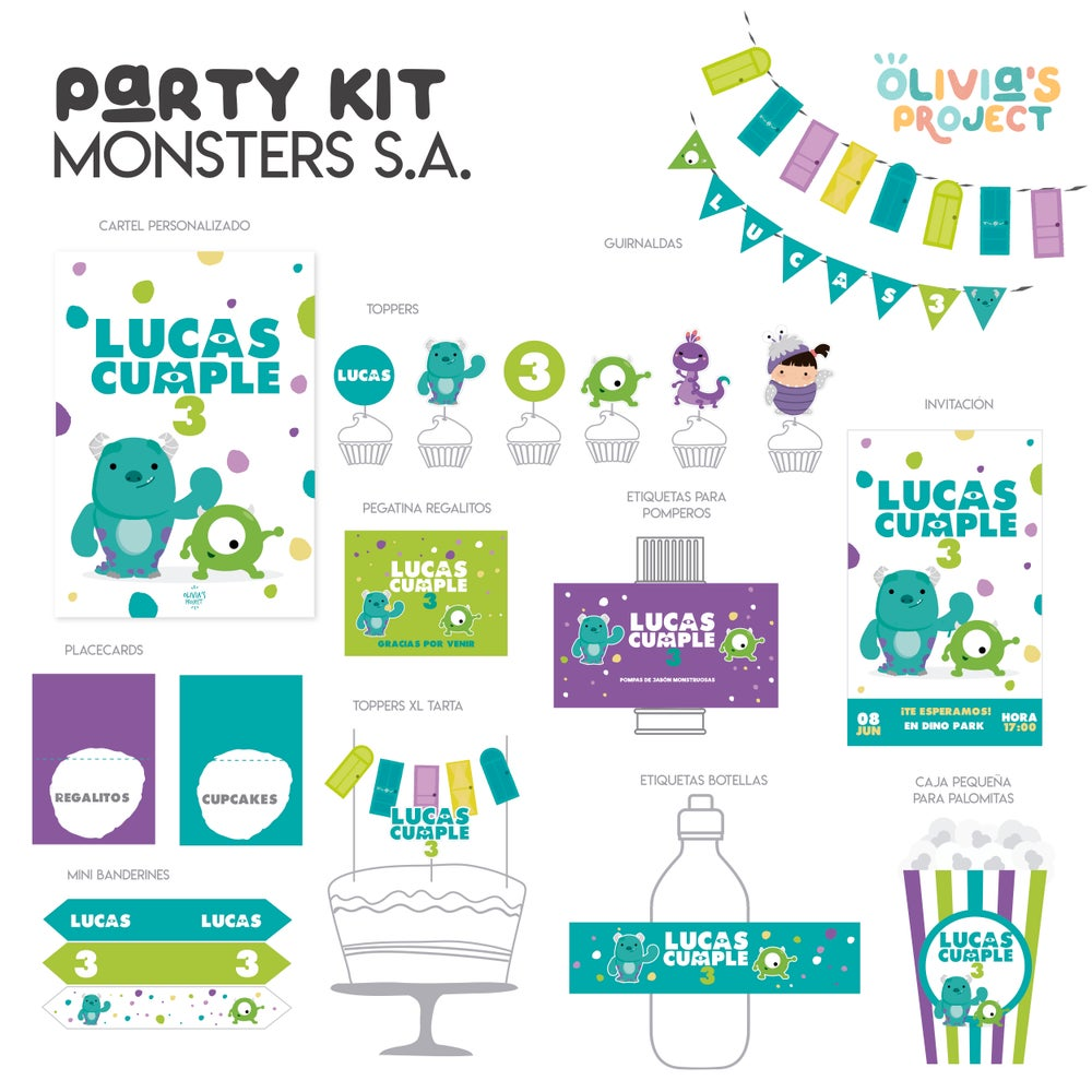 Image of Party Kit Monsters S.A.