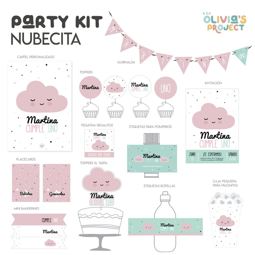 Image of Party Kit Nubecita Impreso