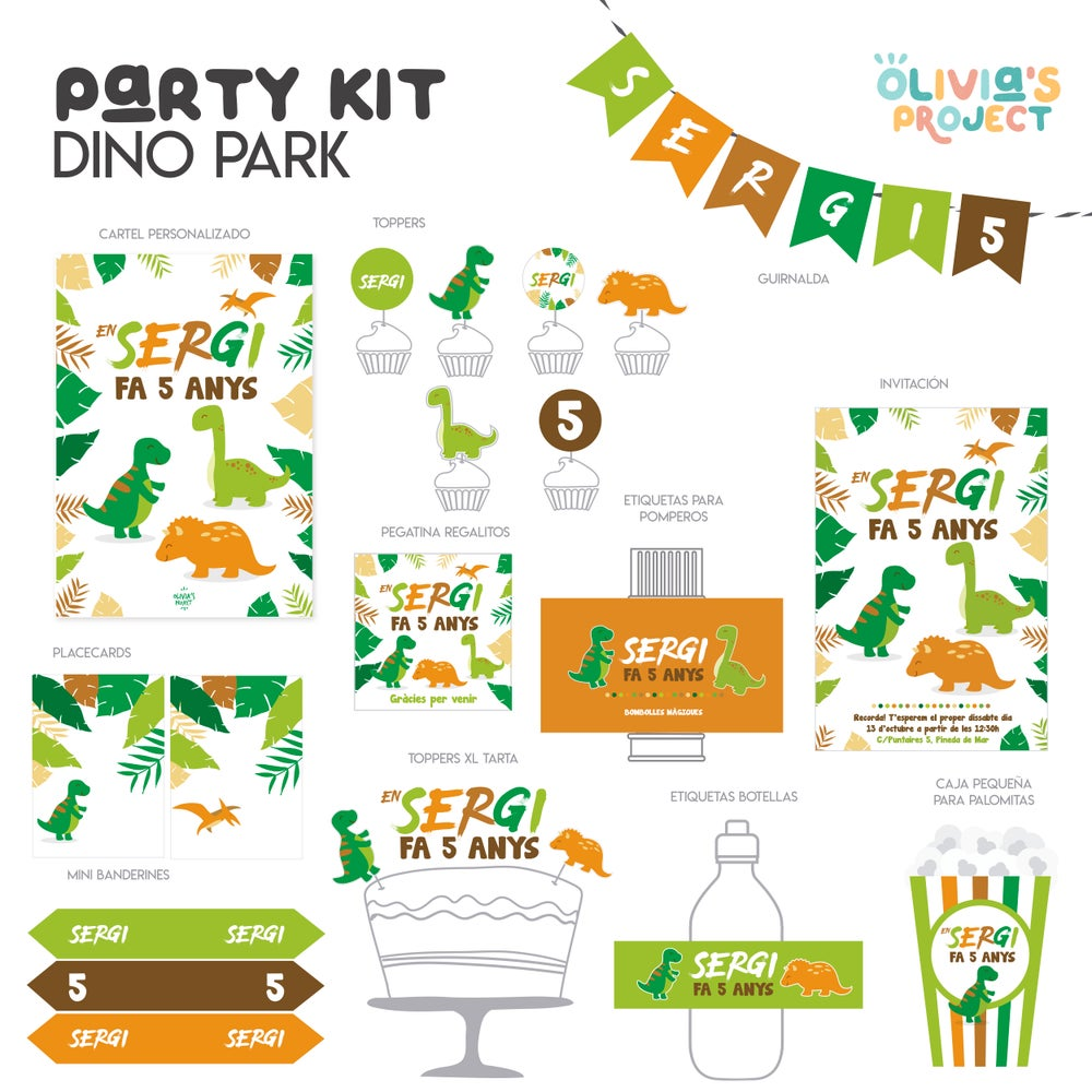 Image of Party Kit Dino Park Impreso