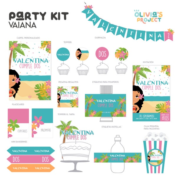 Image of Party Kit Vaiana Impreso