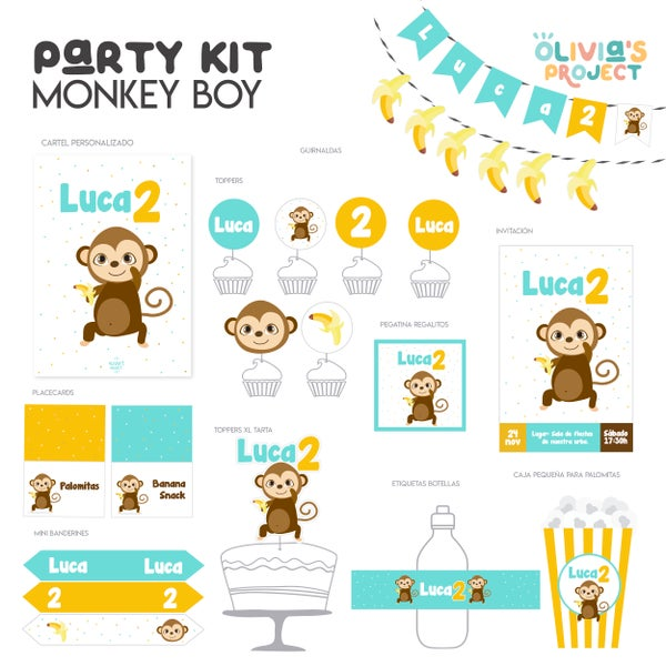 Image of Party Kit Monkey Impreso