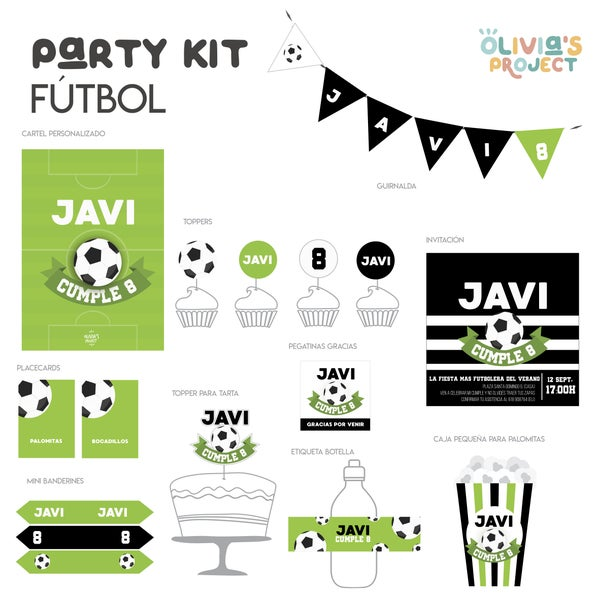Image of Party Kit Fútbol Impreso