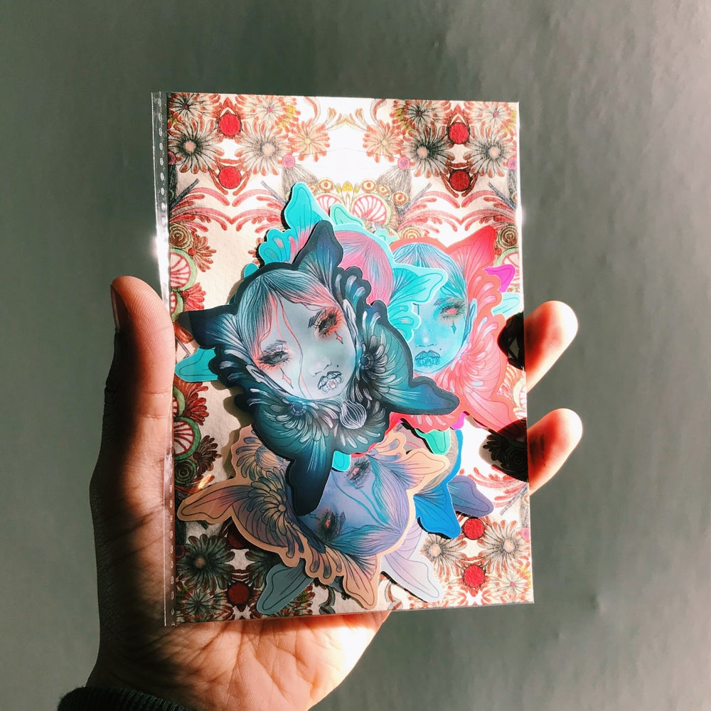 Image of Pack of 9 butterfly stickers