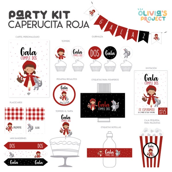 Image of Party Kit Caperucita Impreso