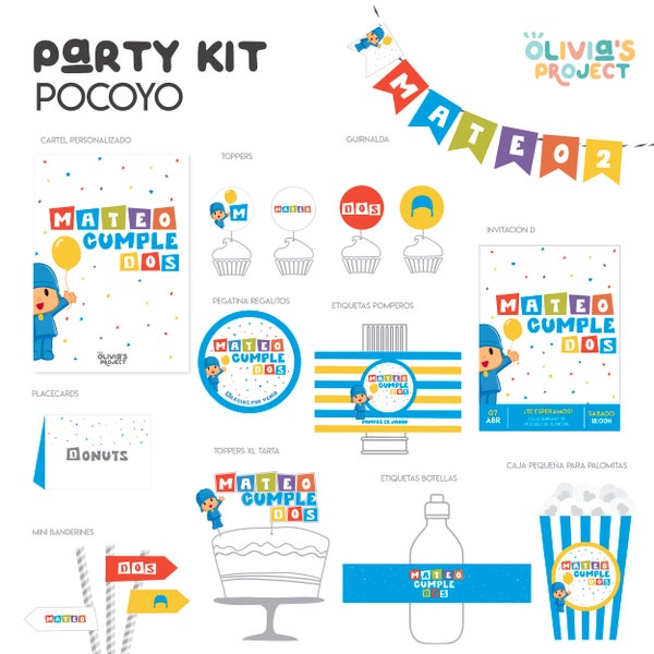 Image of Party Kit Pocoyo Impreso