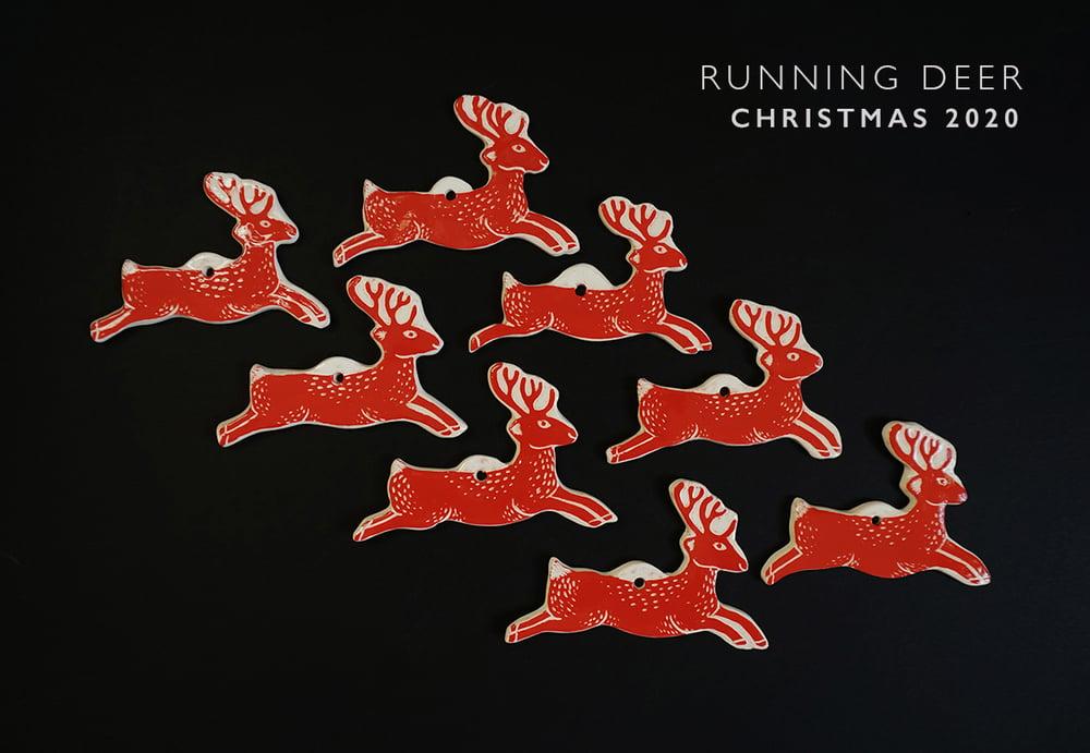 Image of Running Deer - Ceramic Decorations