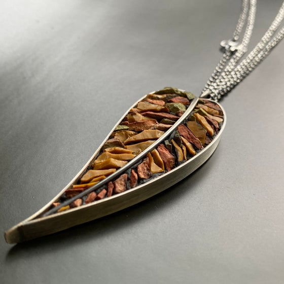 Image of Slender Gentle Fall Leaf Pendant