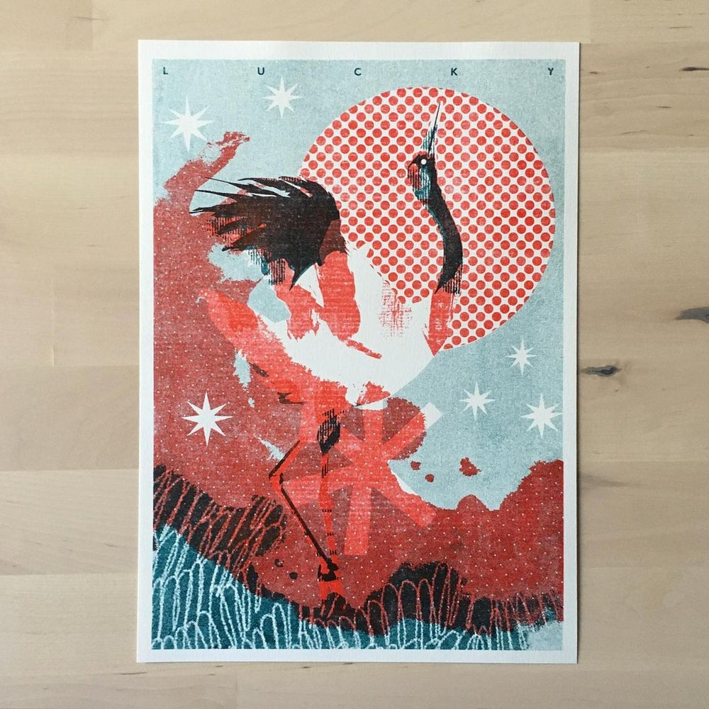 Image of Lucky - Riso Print