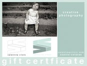 Image of Gift Certificate for ONE (1) Photo Session (only Seattle)