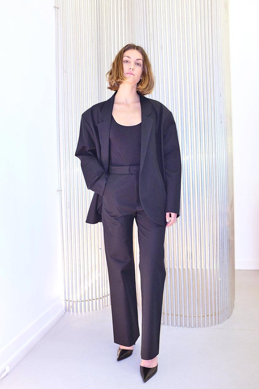 Image of Suit 1 Jacket OVERSIZE WOMEN - Cotton - Black