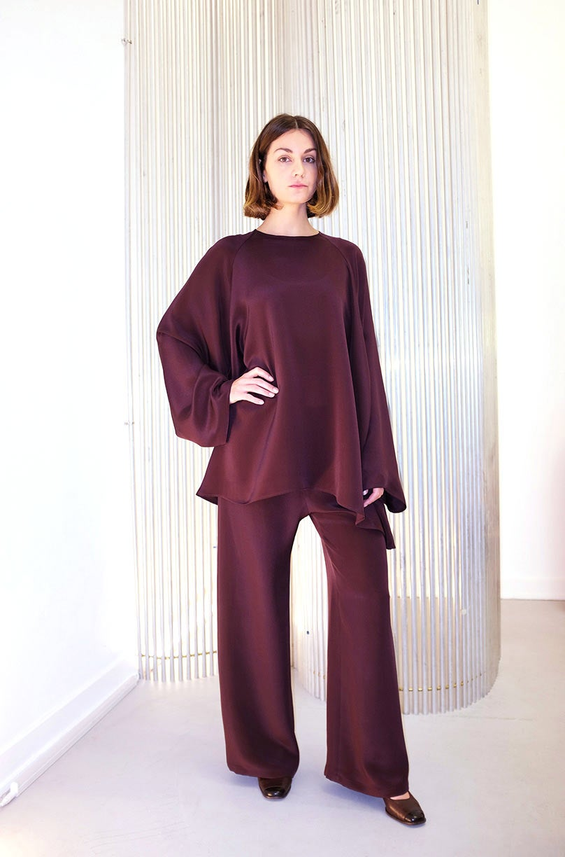 Image of OF 1 Blouse - Silk - Burgundy