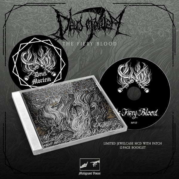 Image of DEUS MORTEM - 'The Fiery Blood' lim. jewelcase CD with patch