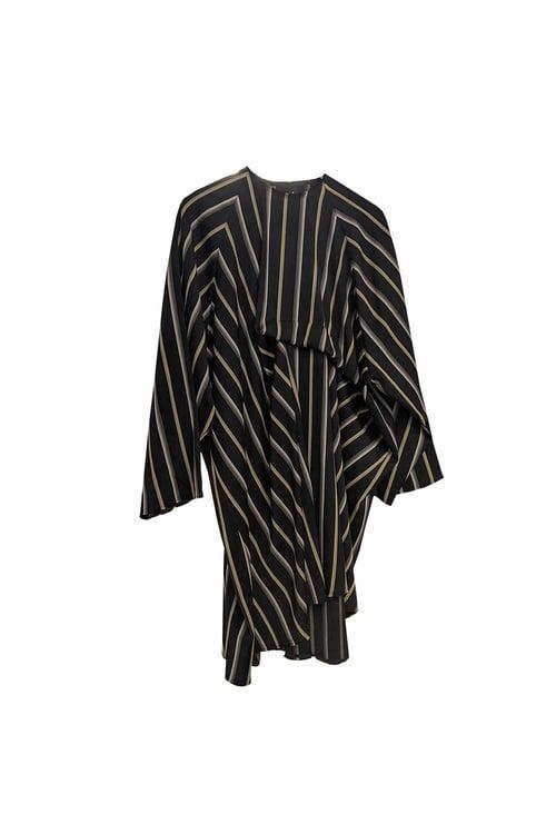 Image of Dress 1 - Wool - Yellow/beige stripe