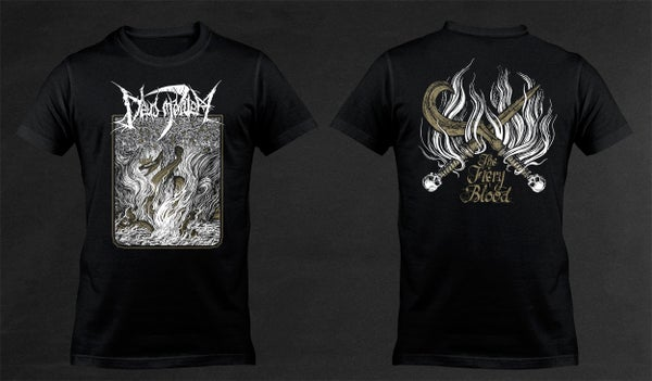 Image of DEUS MORTEM - 'The Fiery Blood' black men's t-shirt