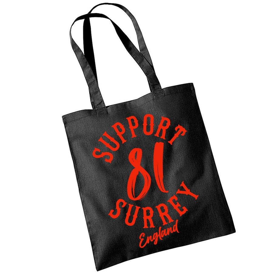 Image of BRM support  black cotton tote bag