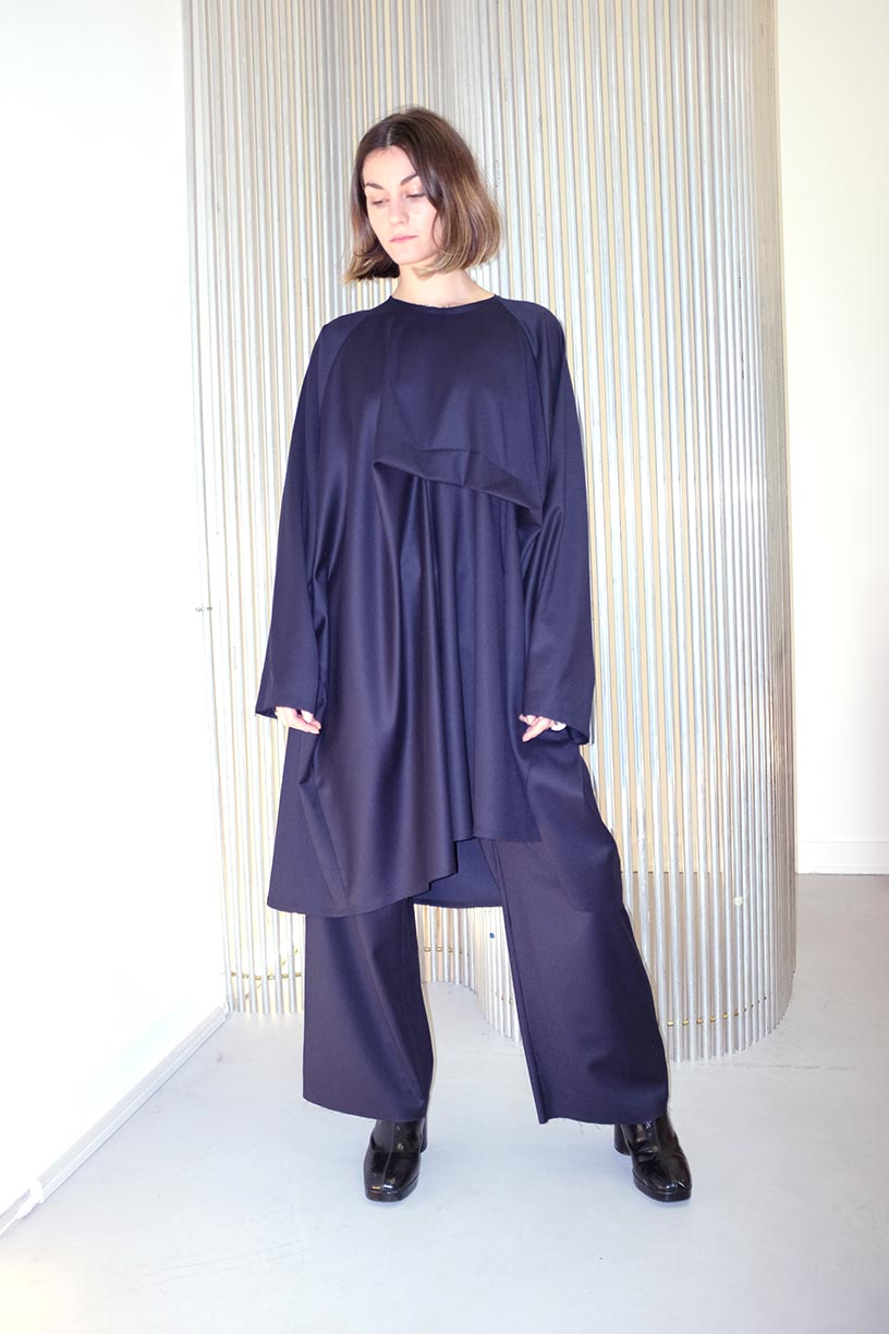 Image of Dress 1 - Wool - Navy
