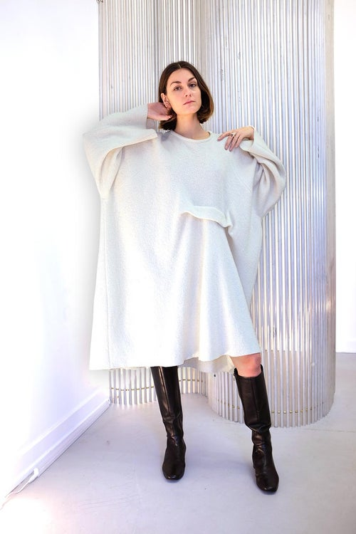 Image of Dress 1 - Organic wool - Off-white