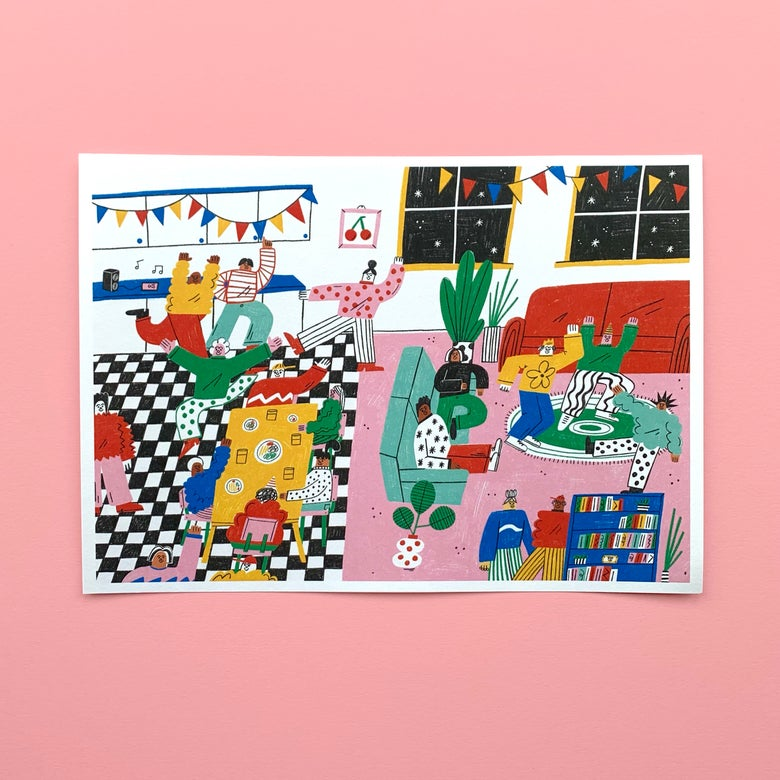 Image of House Party A4 Print