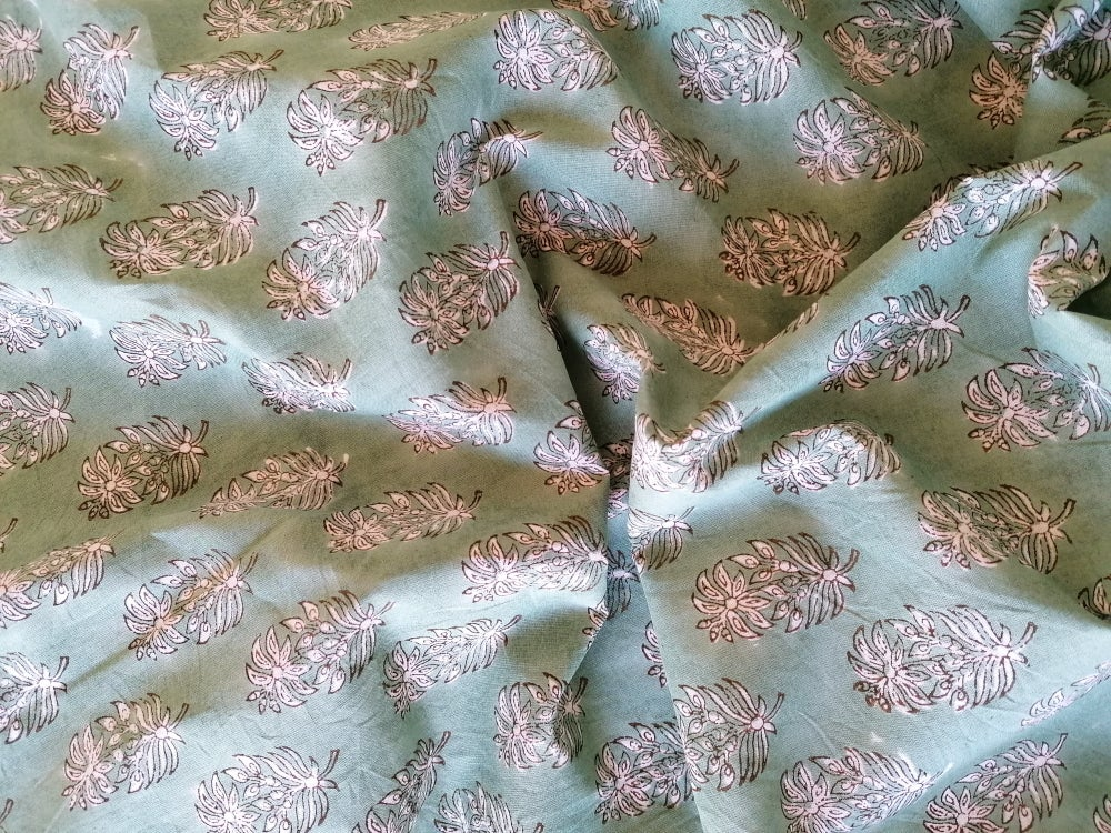 Image of Namasté fabric vert tendre