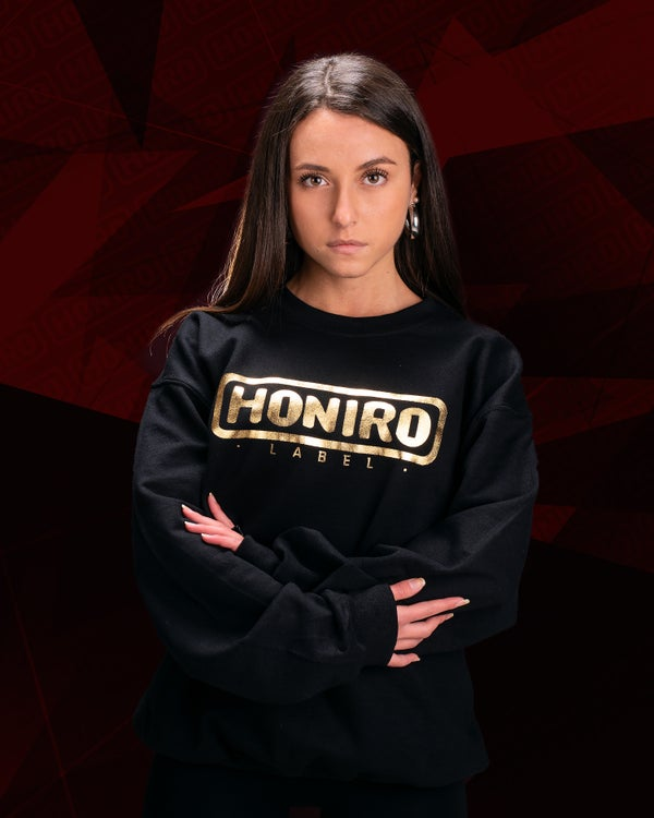 HONIRO LABEL - FELPA LOGO GOLD - HONIRO STORE