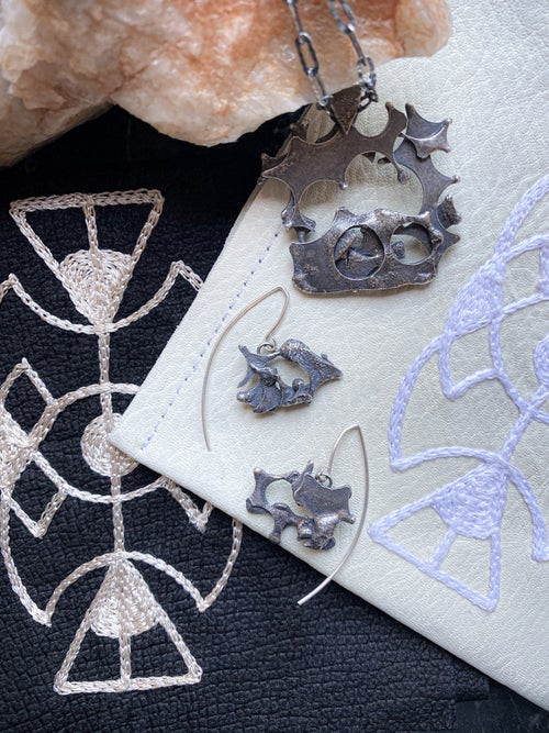 Image of Fulcrum Jewelry + Psychic Stitch Pouch