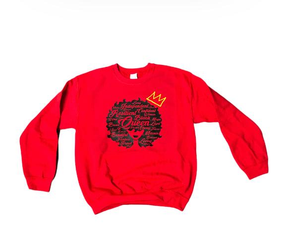 "Red ""QAWC"" Sweatshirt"