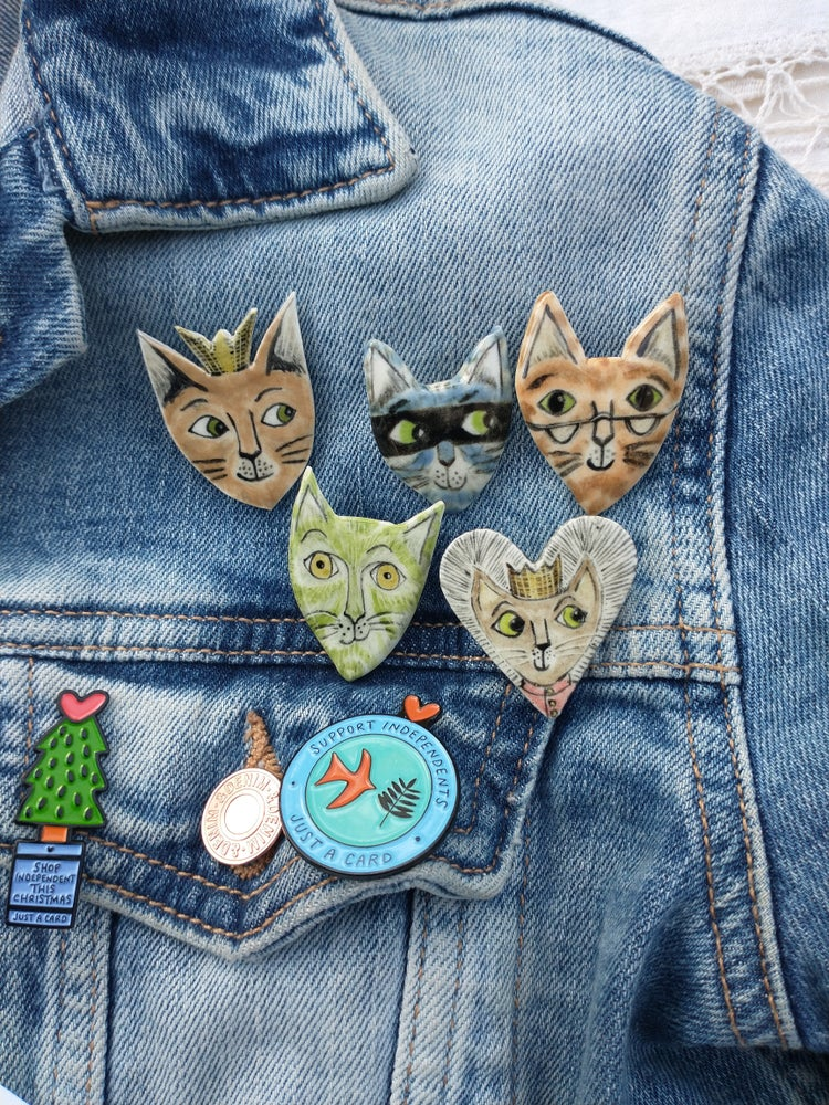 Image of Cat Brooch (postage free!)