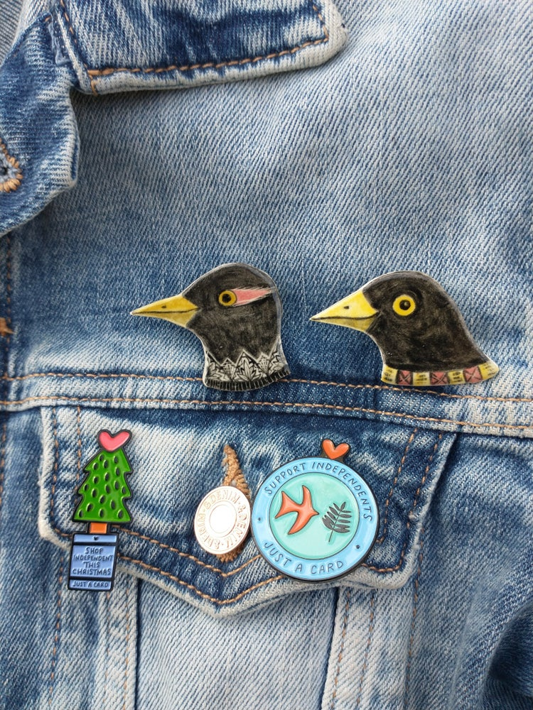 Image of Bird head brooches