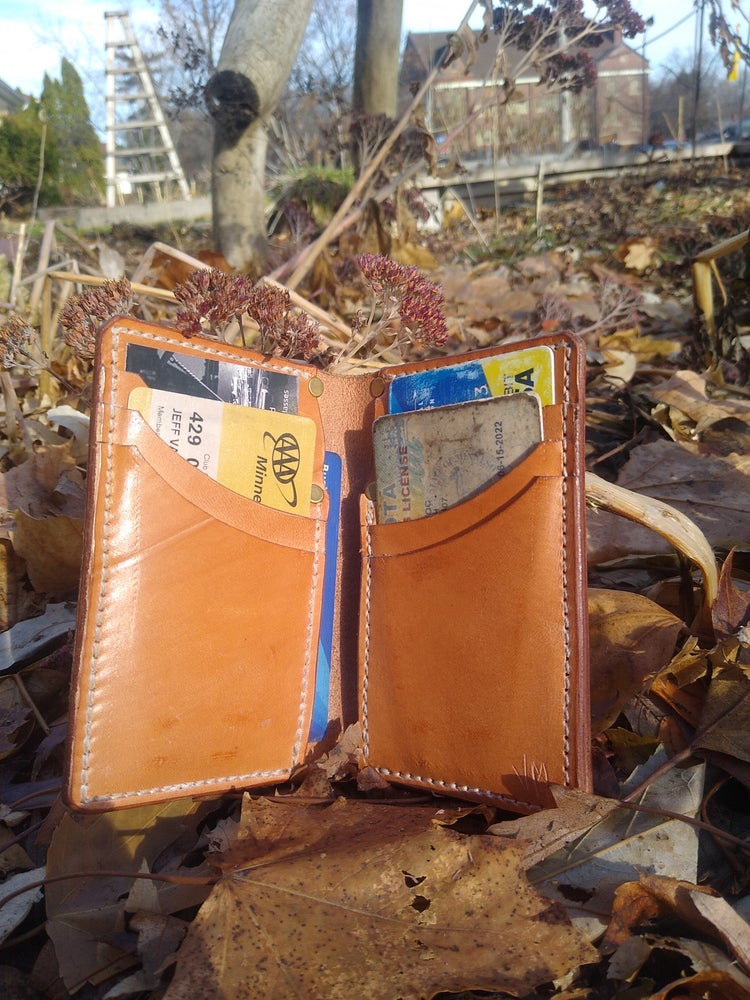 Image of 8 card vertical folding wallet