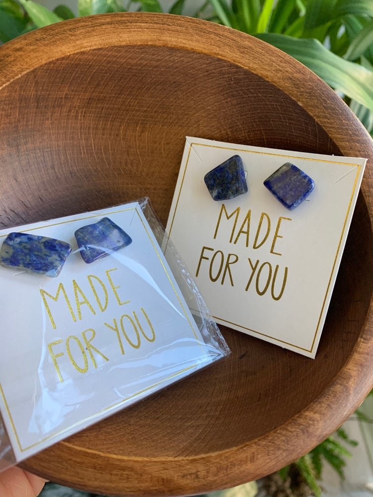 Image of Lapis Lazuli ELEMENTS EARRINGS