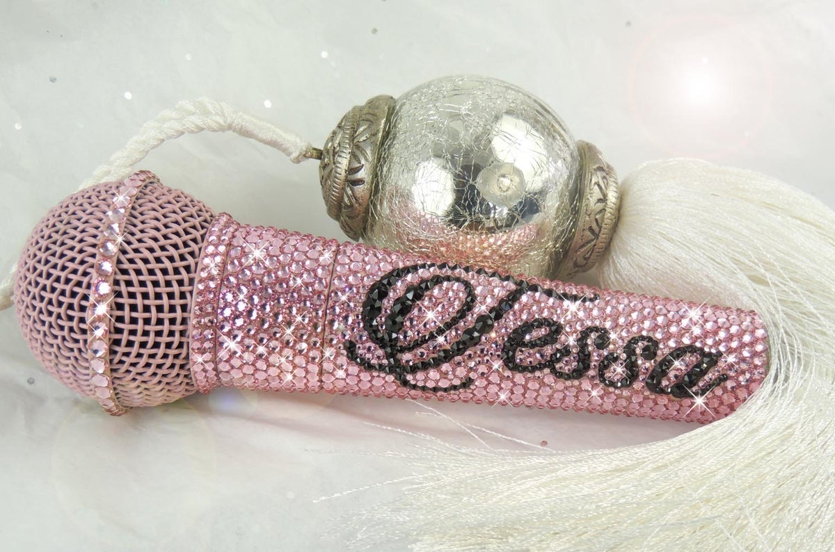 Image of Personalised Shure Dynamic Vocal Mic. Crystals by Preciosa®