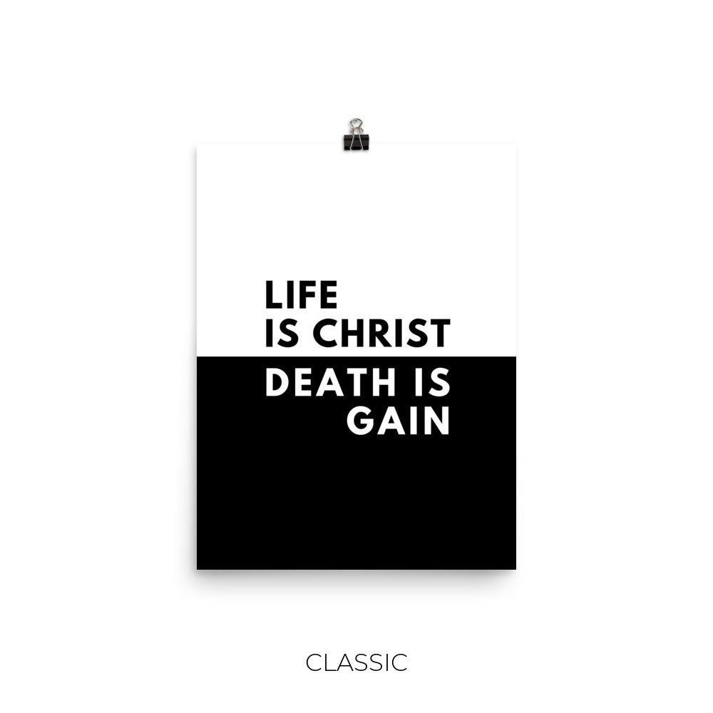 Image of Life Is Christ Print