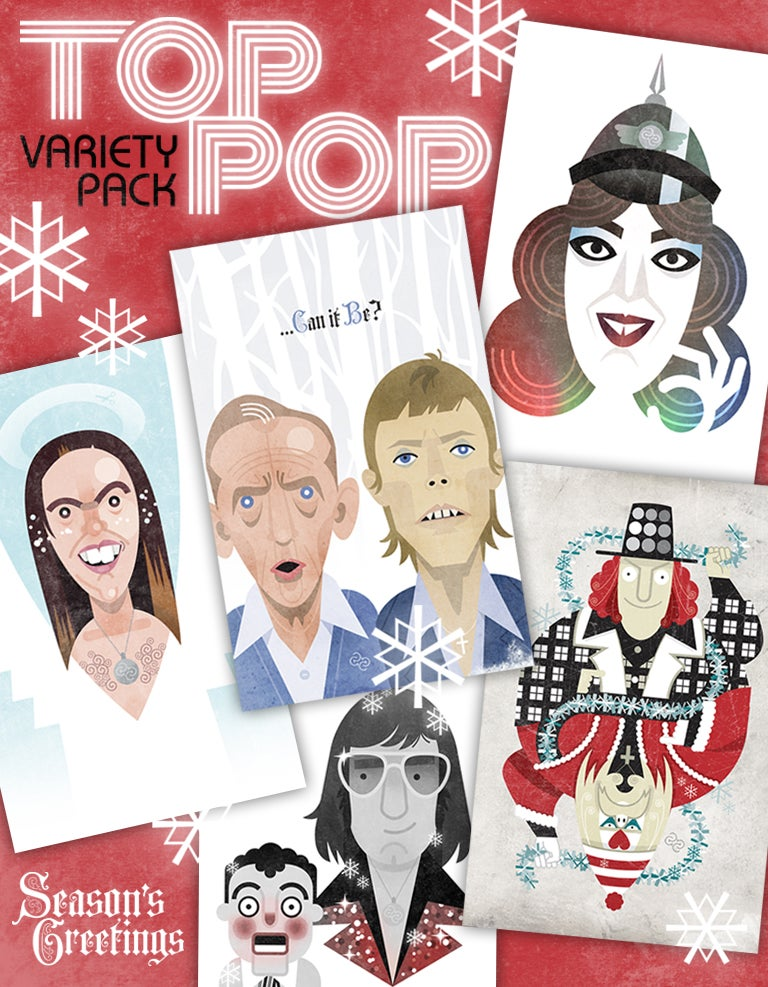 Image of TOP POP Xmas card variety pack