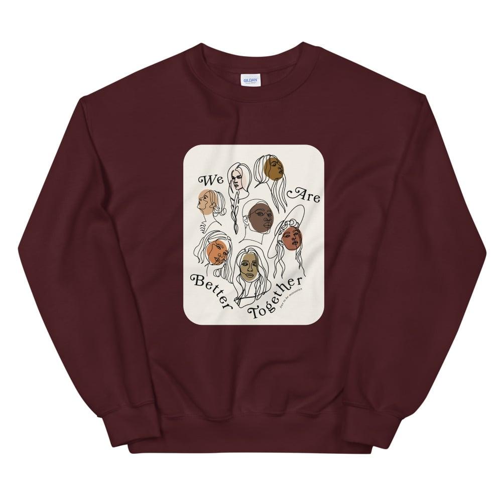 Image of Better Together Crewneck Sweatshirt - Maroon
