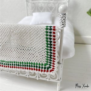 Christmas Granny Square Blanket for Dollhouse in 1:12 scale