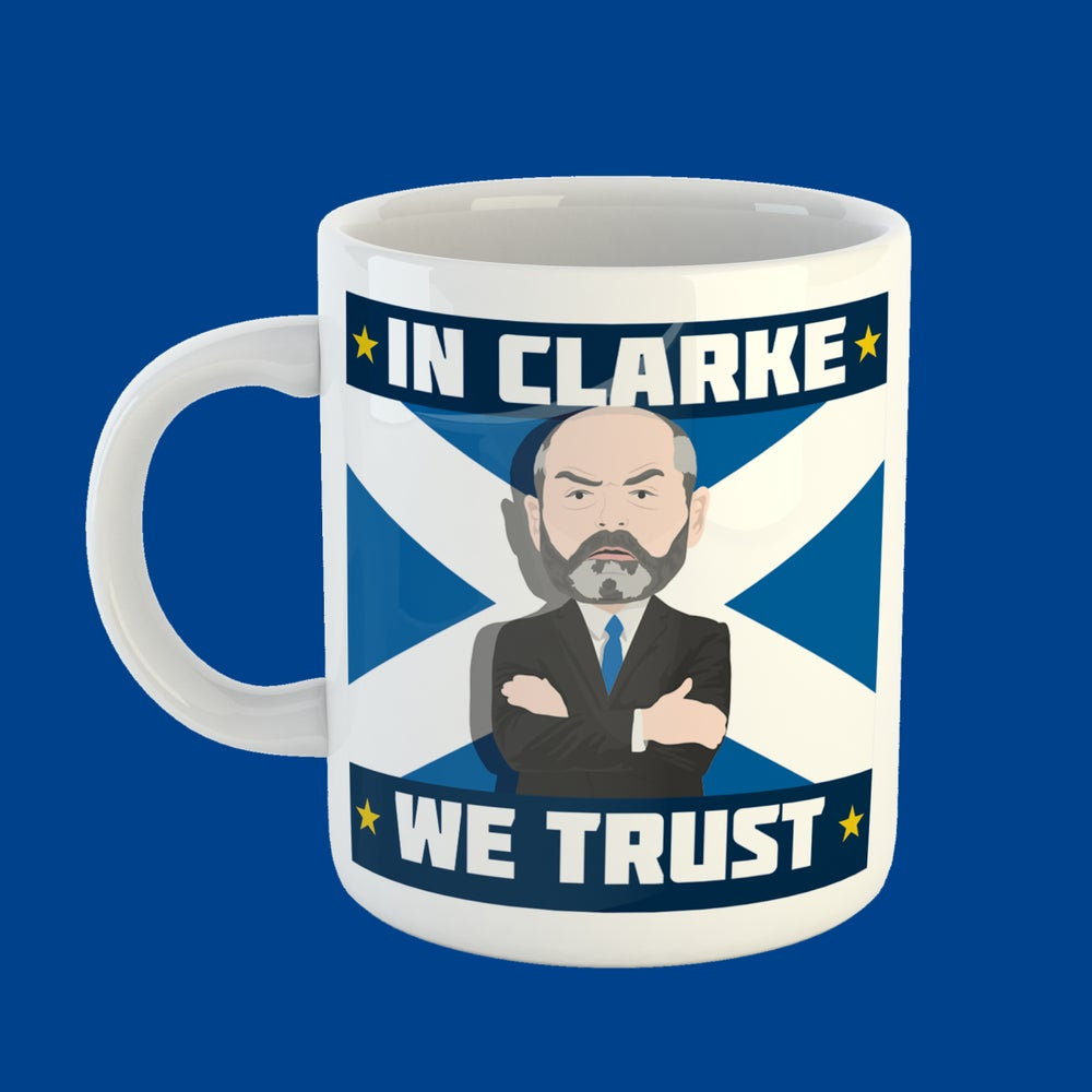 Image of In Clarke We Trust mug